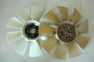 Our fan blade had a bad chip and was clearly showing the brittleness of time.