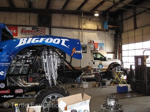 Our Turtles have been in the Midwest Four Wheel Drive shop many times over the years. Gary did the very first story on Bigfoot #1 for Off Road Magazine.