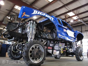 Today's racing fleet of Bigfoot trucks has a slightly modified suspension.