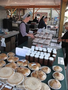 Homemade pies, cakes and jams by the local Amish were a tempting treat.