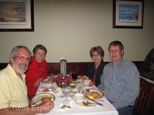 We joined Ben & Ann Hoak for a crab cake feast, a must if you are in this part of the country.