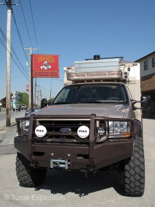 Hoak's Four Wheel Drive Center was a safe harbor to do final oil & filter change and prepare the truck for shipping.
