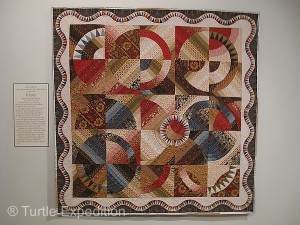 At the Intercourse Museum, we discovered a beautiful selection of Amish quilts