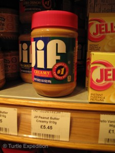 A pound of Jif peanut butter costs 5.45 pounds, or $8.50, so spread it thin.