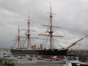HMS Warrior, the biggest and most powerful warship in the world in 1860.