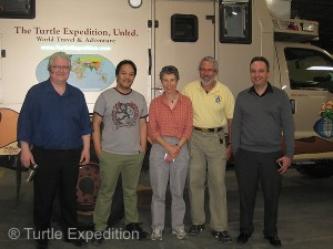 The Espar team, (L to R) Alexey Konyshev, Jeffrey Amores and John Giglio (far R) were all extremely knowlegible and helpful.