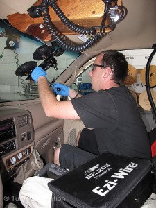 The technicians at Safelite used a unique Ezi-Wire device that cuts the windshield's rubber seal without damaging the paint or factory trim.