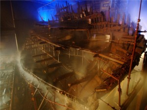 The HMS Mary Rose, King Henry VIII favorite warship is now preserved in its own museum at Portsmouth, England