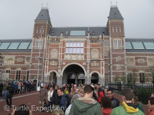 The crowds and lines were ever present, but once inside, that did not detract from the spectacular collection of the Rijksmuseum.