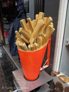 As popular as it was 45 years ago, hot French fries with mayonnaise are still a local favorite.