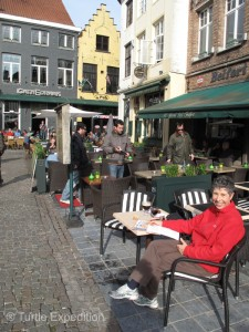 We were always tempted by the pleasant outdoor cafés.