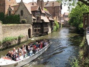 One of the best ways to see the town was by tour boat along the canals.