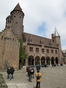 The Burg Square is one of two medieval cores in town.