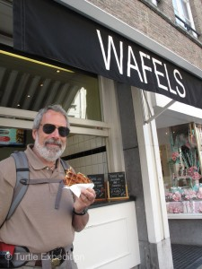 "We have all heard of ""Belgium Waffles"", but we had to taste one of Belgium's specialties. Delicious without any topping. Melted chocolate is a favorite."