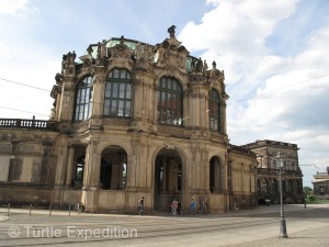This section of the Zwinger contains a world famous porcelain collection.