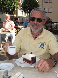 We weren't in the Black Forest, but a slice of the famous Black Forest chocolate/cheery cake was a special treat.