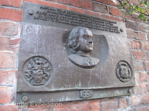 This plaque was placed 300 years after Czar Peter the Great visited Godalming.
