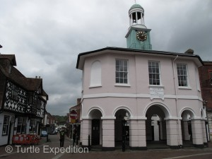 The ancient market hall affectionately called The Pepperpot is the center of town.