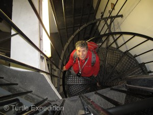 Yes, you can climb to the top. It's only 1,161 steps to the top. Are we there yet?