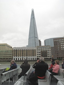 The Shard, looking like a broken piece of glass, is one of London's more unique examples of modern arcatecture.