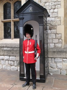 Like Buckingham Palace, the Royal Guards keep a watchful eye.