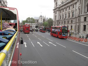 Ahh, those famous double-decker red busses. Everywhere you look, busses and more busses.