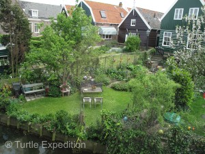 Dutch homes are often very small and compact but gardens give people the opportunity to enjoy the outdoors.