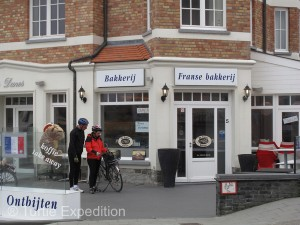 A nearby bakery had free Wi-Fi and warm bread in the morning.
