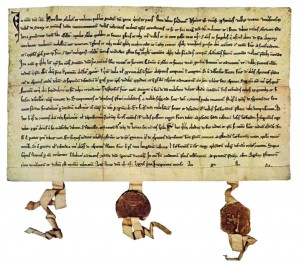 """This agreement document called """"Bundesbrief"""" dated """"the beginning of August 1291, marks the beginning of Switzerland."""