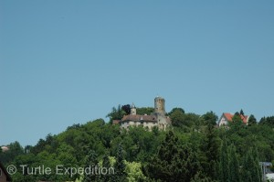 Typical of many German towns, there is a castle guarding the surrounding countryside.