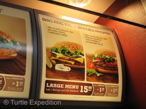 A Big Whopper with a Coke: $16.94 Fries are extra.
