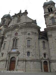 The beautiful cathedral and monastery in Einsiedeln is one of the most famous pilgrimages sites in Switzerland.