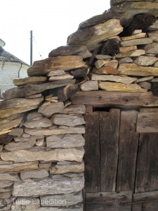 The unique stacked rock construction of the houses using materials available is marvelous.