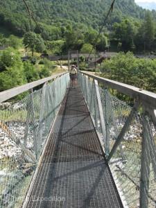 Sturdy suspension bridges crossed the river when necessary.