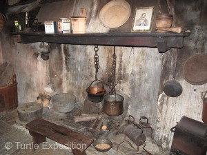 The local museum gave a good impression of how these people lived in this remote area. All cooking was done on an open fireplace.