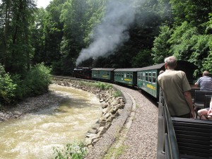 The Fichtellbergbahn followed a route through three very different natural settings including the Rabenau Gorge.