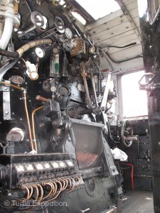 The engineer's control panel looks as complicated as a modern jet liner.