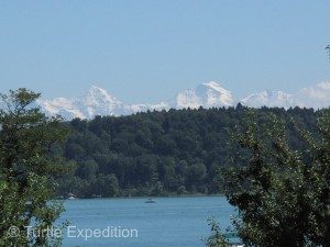 The setting on Lake Biel with the snow capped Swiss Alps in the background was a postcard setting.
