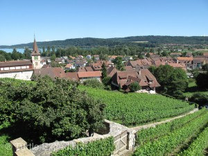 The medieval town of Erlach, (founded in 1274), was a grand place to celebrate the Swiss National Holiday.