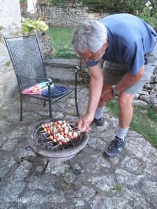 Gary is in charge of the BBQ.