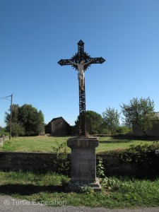 Crosses like this one can be found in many villages throughout France.