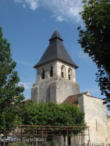 The center of Sorges is its church.