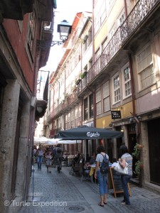 The narrow cobblestone streets of Porto were far too narrow for vehicles of any size.