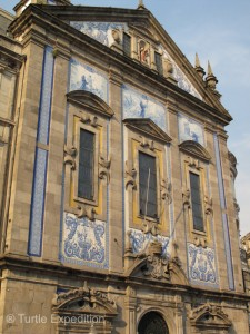 Many of the buildings in Porto are decorated with Portugal's famous Azulejo tiles.