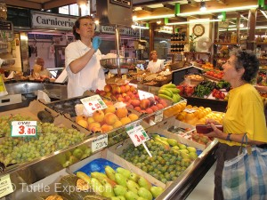 Every kind of fresh fruit was carefully arranged to tempt the shopper.