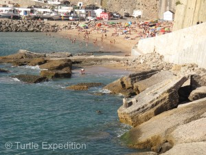 The Portuguese coastline is dotted with small resort beach towns like Ericeira.