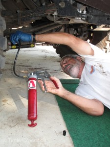 Careful maintenance will keep out truck running of many thousands of miles.