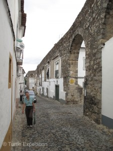 """We walked in along the 16th century """"Silver Water"""" aqueduct."""