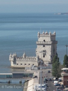 The Belém Tower gave us an interesting view of the city and the riverfront.