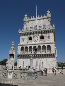 With many other tourists, we inspected the famous Belém Tower.